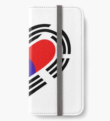 Korean Patriot Flag Series (Heart) iPhone Wallet