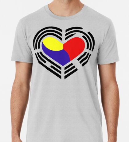 Korean Patriot Flag Series (Heart) Premium T-Shirt