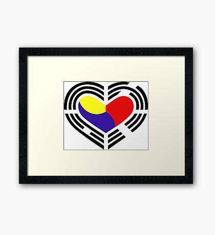 Korean Patriot Flag Series (Heart) Framed Print