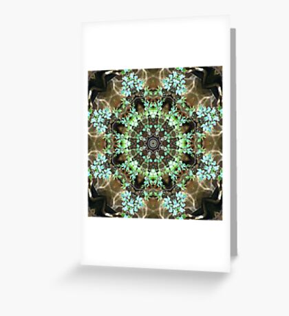 Silent Ivy Fractured Greeting Card