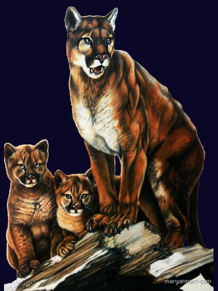 Cougar Family by maryannart-com