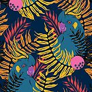 Electric Cockatoo - Navy by Janine Lecour