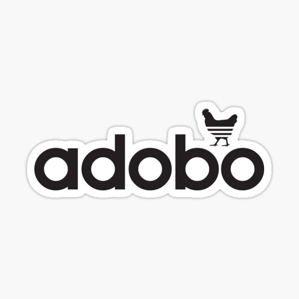 Adobo (Black) Sticker