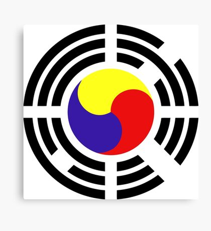 Korean Patriot Flag Series Canvas Print