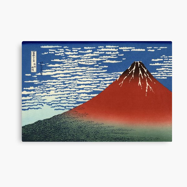 "Hokusai ""South wind, clear sky"", Red Fuji Canvas Print"