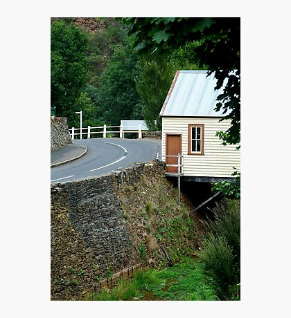 Walhalla Fire Station,over Stringers Creek Photographic Print