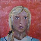 Self Portrait- acryllic painting by Meg Nicholson