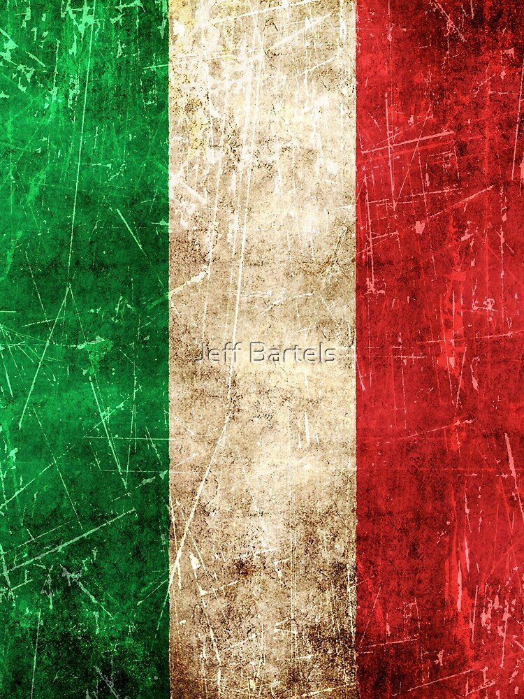 Vintage Aged and Scratched Italian Flag by JeffBartels