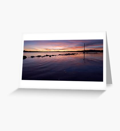 Dusk - Flying Fish Point Greeting Card