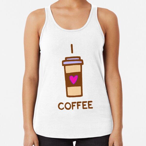 I love Coffee Racerback Tank Top