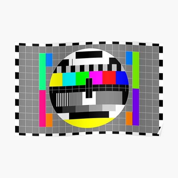 PAL TV Test Card Poster