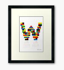 W Framed Print