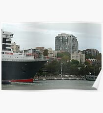 Queen Mary 2 Arrives Sydney 013 Poster