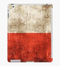 Vintage Aged and Scratched Polish Flag iPad Case/Skin