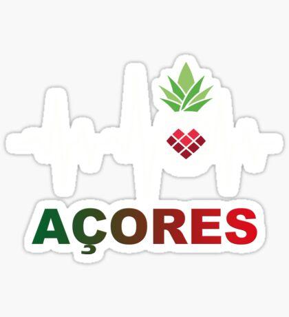 Açores Ananas Herzlinie Sticker