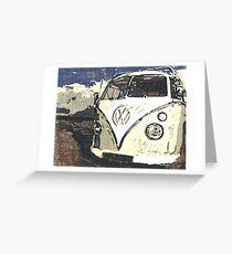 VW Splt Screen Camper 1 Greeting Card