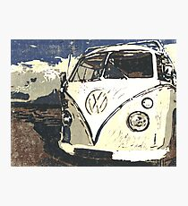 VW Splt Screen Camper 1 Photographic Print
