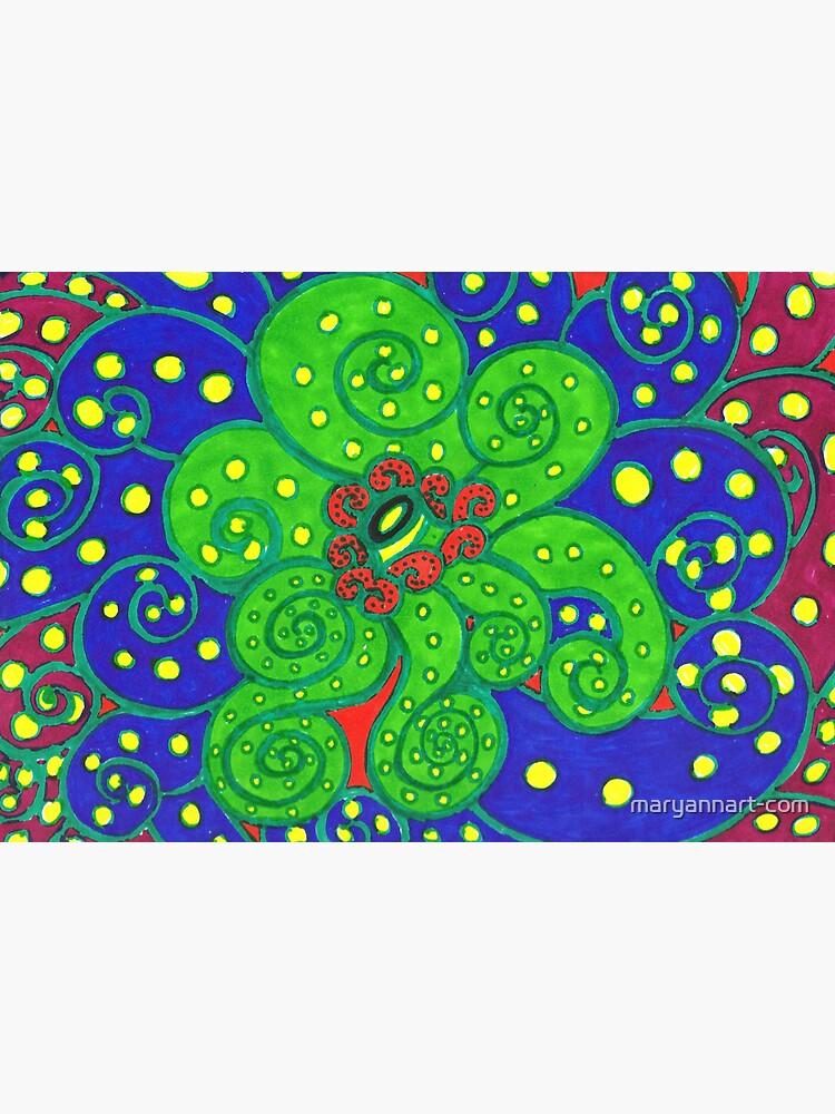 Neon Alien Eye by maryannart-com