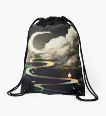 ascending by aurora. Drawstring Bag