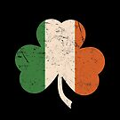 Distressed Irish Shamrock by LaRoach