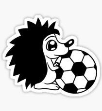 Pegatina jugar pelota de fútbol deporte club peligroso estallido kicker pequeño dulce lindo erizo otoño invierno espinas cómico dibujos animados clipart
