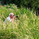 Photographer in the grass! by Ray Clarke