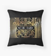 Personalized Great Gatsby Throw Pillow