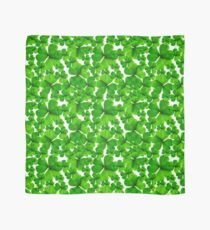 Falling Shamrock Pattern with Whitebackground Scarf