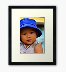 bubby blue Framed Print