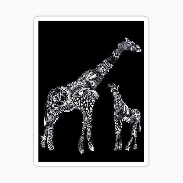 Girafa Maori Black Sticker