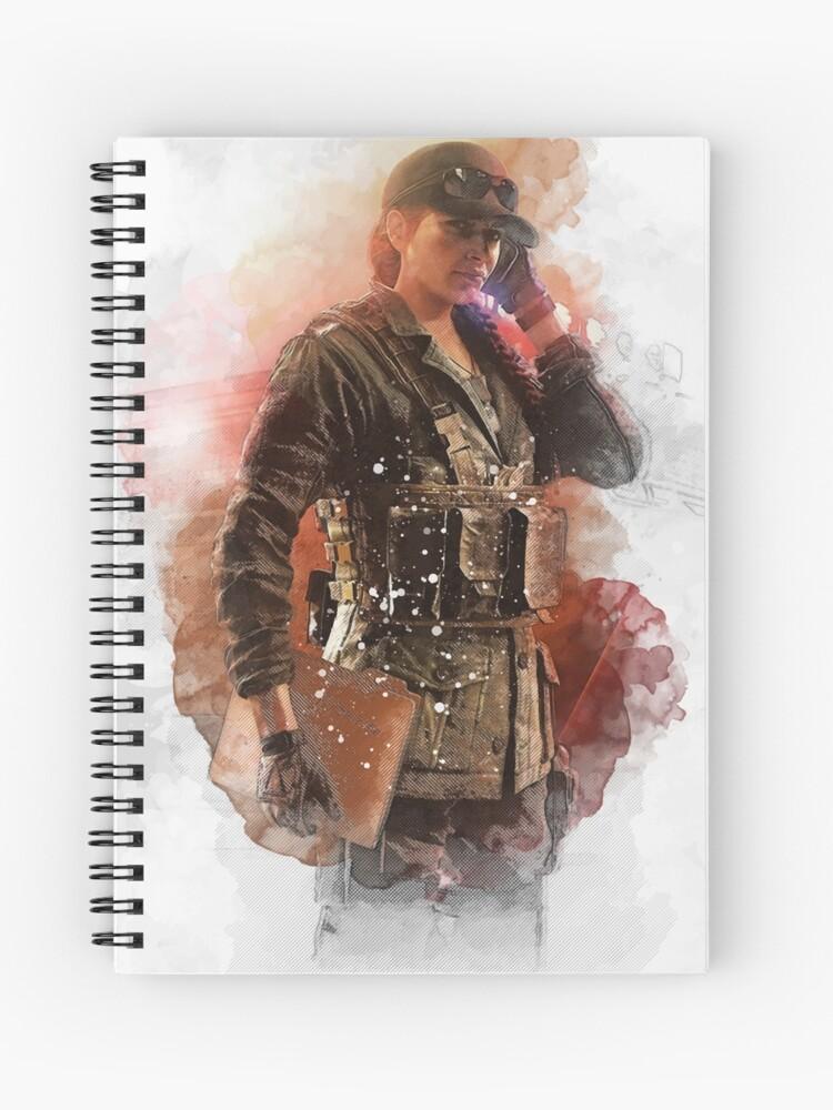 Rainbow Six Siege Ash Elite Skin White   Spiral Notebook