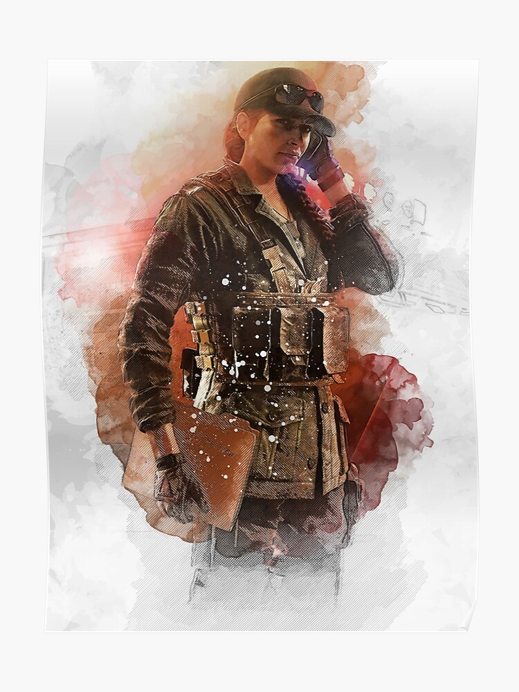 Rainbow Six Siege Ash Elite Skin White   Poster