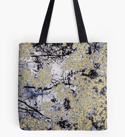 Winter Reflections on Pond Tote Bag