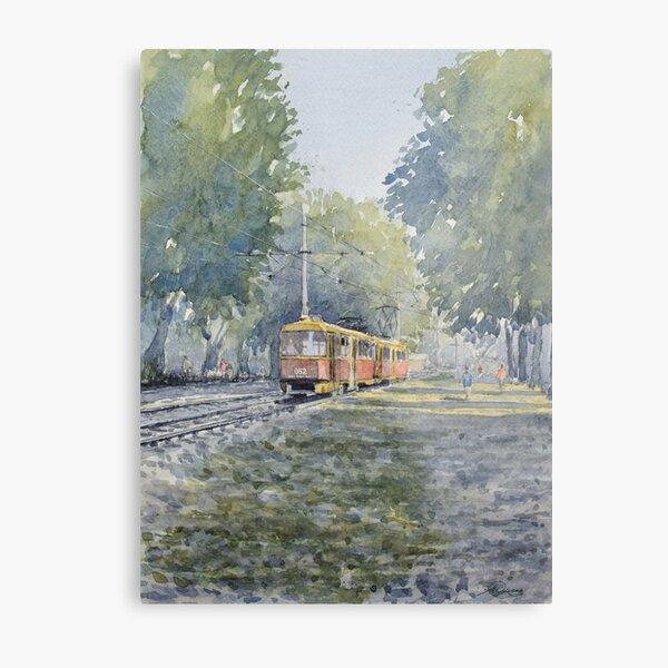 """ The tram home "" Krasnodar, Russia Metal Print"