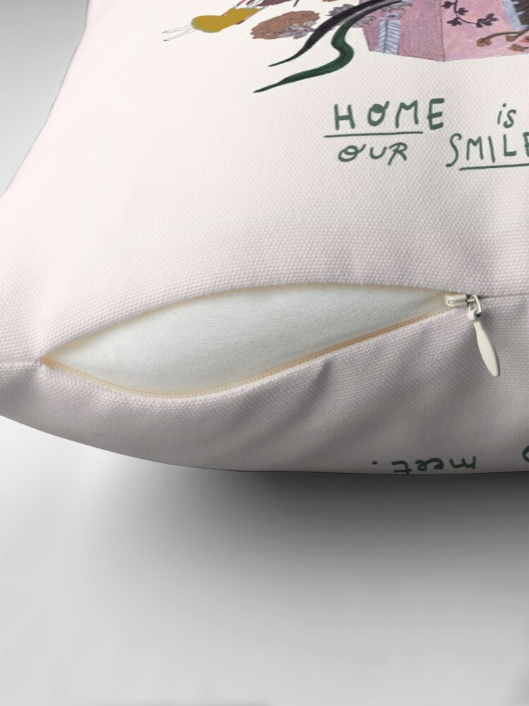 Alternate view of Home Throw Pillow