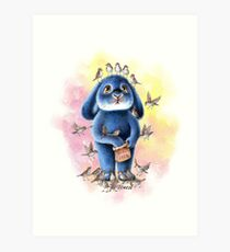 Benny Blue - Bird Seed Art Print