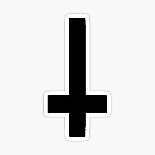 Simple cross (black) Sticker