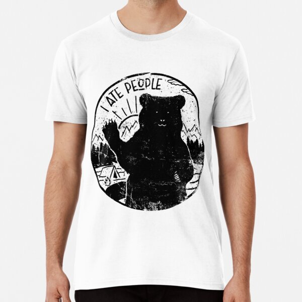 "Adventure ""I ATE PEOPLE"" grunge Premium T-Shirt"