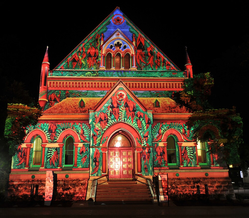 Elder Hall Northern Lights by Wayne England