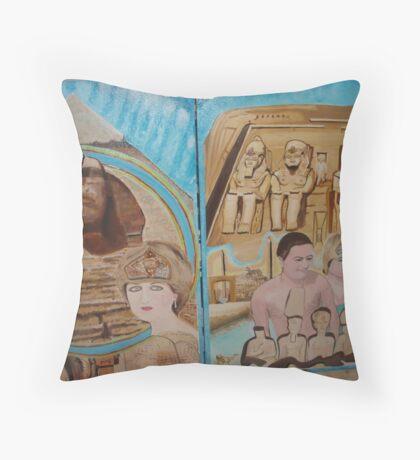 Egypt Travel Warning - You will meet Queen Diana & King Dodi in Pyramids - Sunilism Throw Pillow