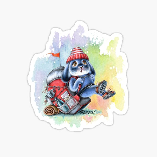 Benny Blue - Backpack Hiking Adventure  Sticker