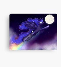 Luna ~ Space Unicorn Canvas Print