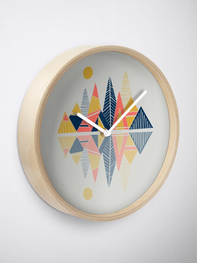 Alternate view of Mountains Reflection Clock