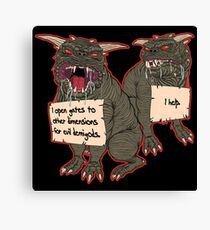 Terror Dog Shaming Canvas Print