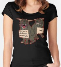 Terror Dog Shaming Women's Fitted Scoop T-Shirt