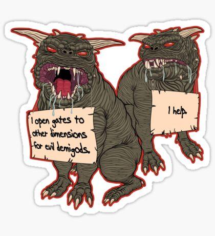 Terror Dog Shaming Sticker