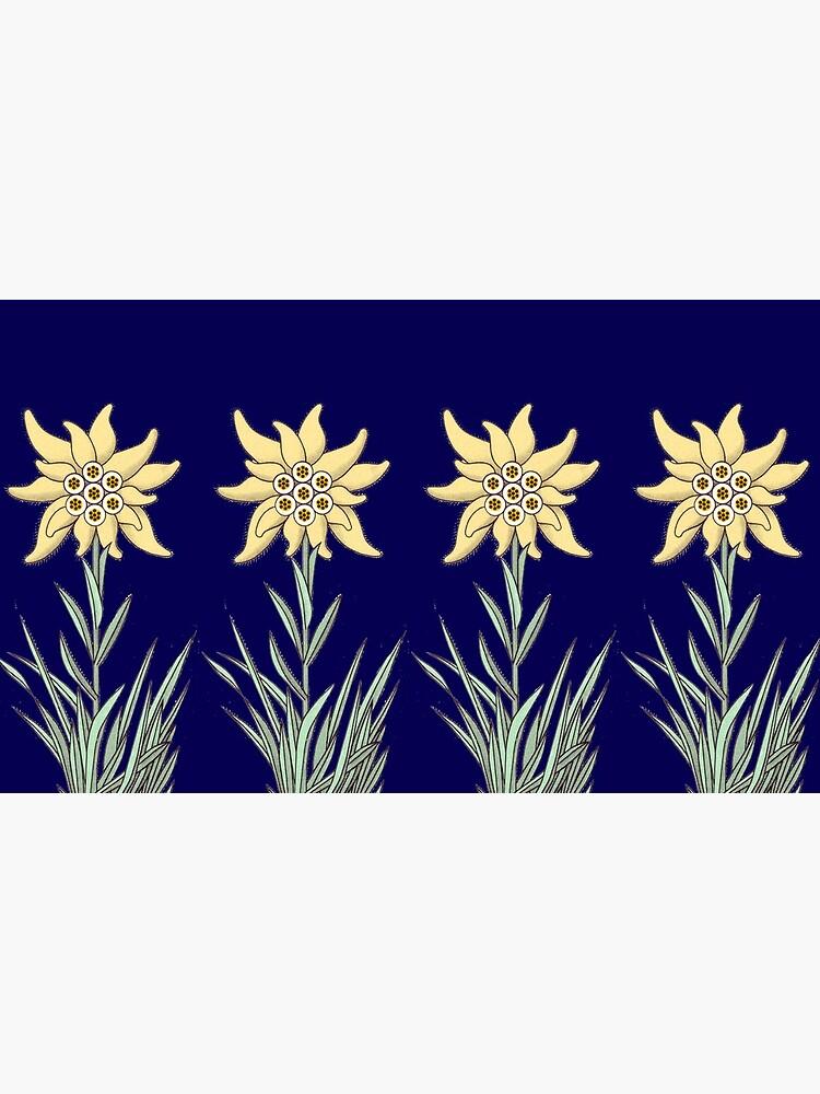 Edelweiss Flower ...an abstract version  by edsimoneit