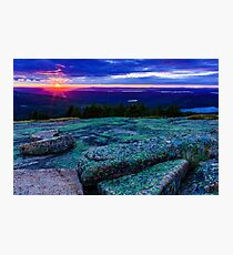 Sunset on Cadillac Mountain Photographic Print