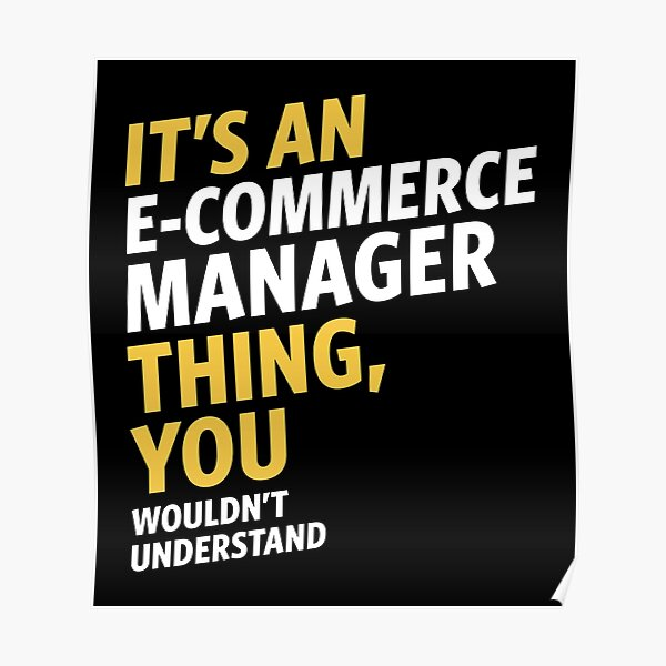E-commerce Manager Poster