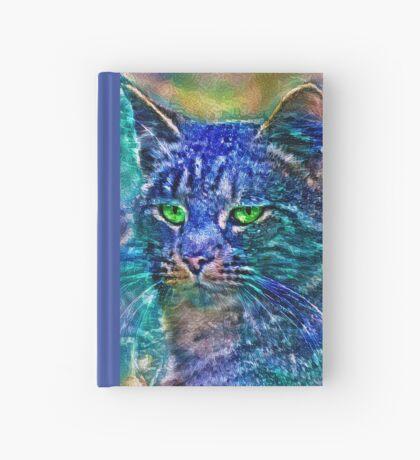 Artificial neural style Blue cat avatar Hardcover Journal
